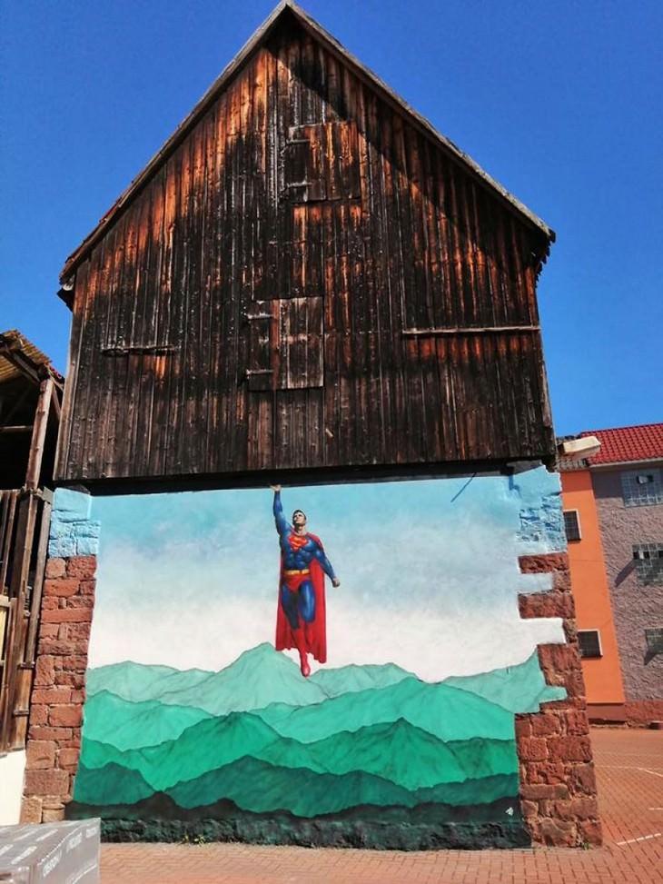 Arte callejero de Jamie Paul Scanlon Superman