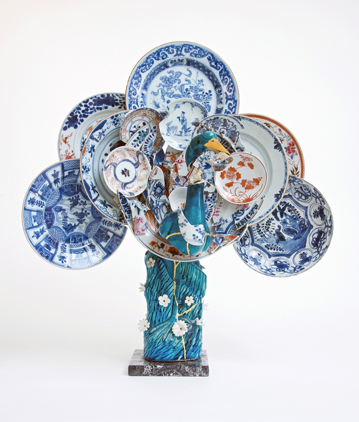 Artista Revive Cerámicas Desechadas En Bellas Esculturas ave