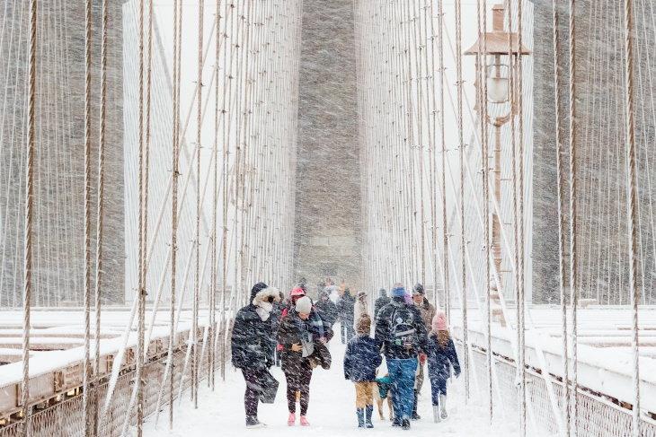 """Concurso Fotografía Clima Extremo  Ganador general: """"Tormenta de nieve"""" de Rudolf Sulgan"""