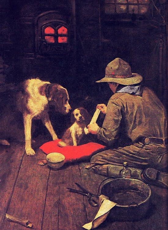 1. Un hombre de la Cruz Roja en ciernes, calendario de Boy Scouts of America de 1925