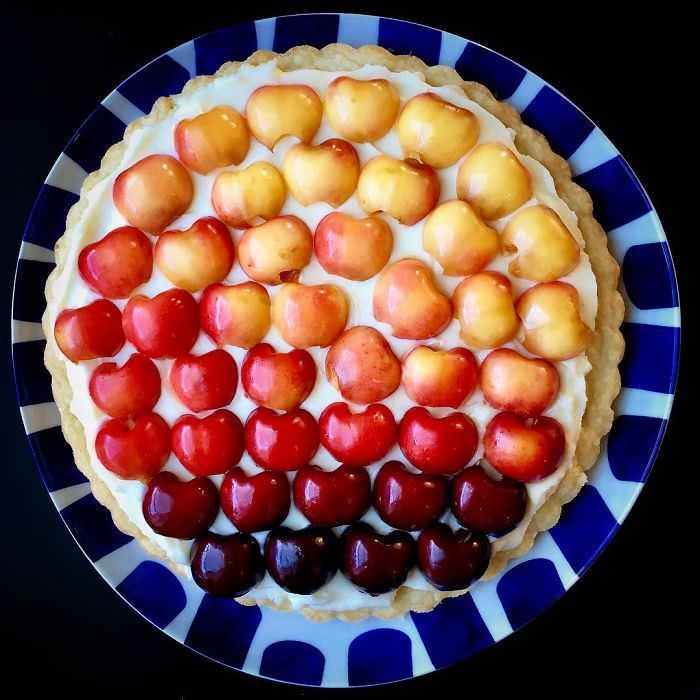 20 Hermosos y Deliciosos Diseños De Tartas De Lauren Ko tarta cereza