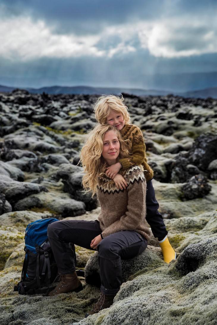 18 Fotografías Que Capturan La Belleza De La Maternidad Andrea y su hijo Benjamín Islandia