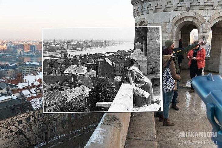Un Recorrido En 25 Fotografías Por La Budapest Del Siglo XX Vista de la ciudad desde el Bastión de los Pescadores, 1962 - 2016