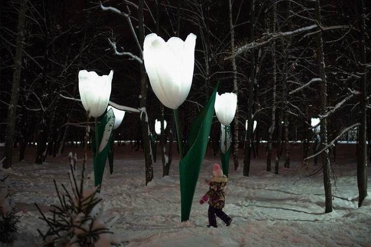 Diseños Increíbles De Todo El Mundo Farolas En Forma De Tulipanes