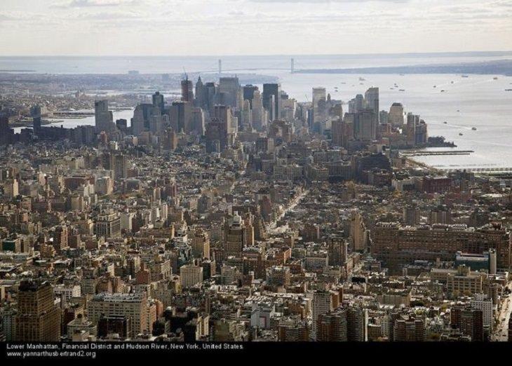 Fotos De Nueva York Desde Las Alturas Parte baja de Manhattan, el distrito financiero y el río Hudson