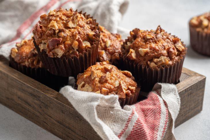 Receta Saludable: Muffins De Zanahoria y Nueces