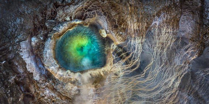 """Fotografías Panorámicas Ganadoras De Los Premios EPSON Del 2020  """"Ojo de dragón"""" de Manish Mamtani, segundo lugar, concurso abierto, naturaleza y paisajes"""