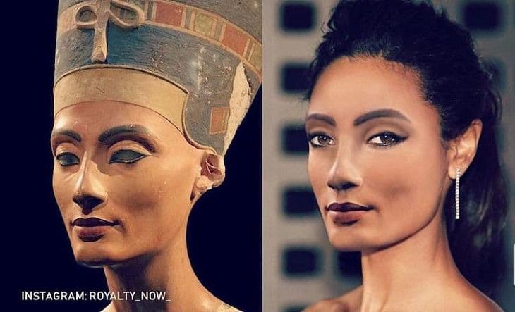 Personajes Históricos Recreados Como Personas Modernas Nefertiti