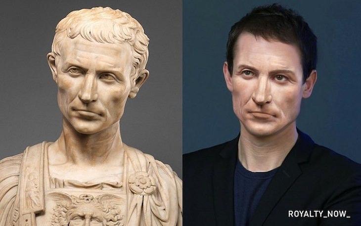 Personajes Históricos Recreados Como Personas Modernas Julio César