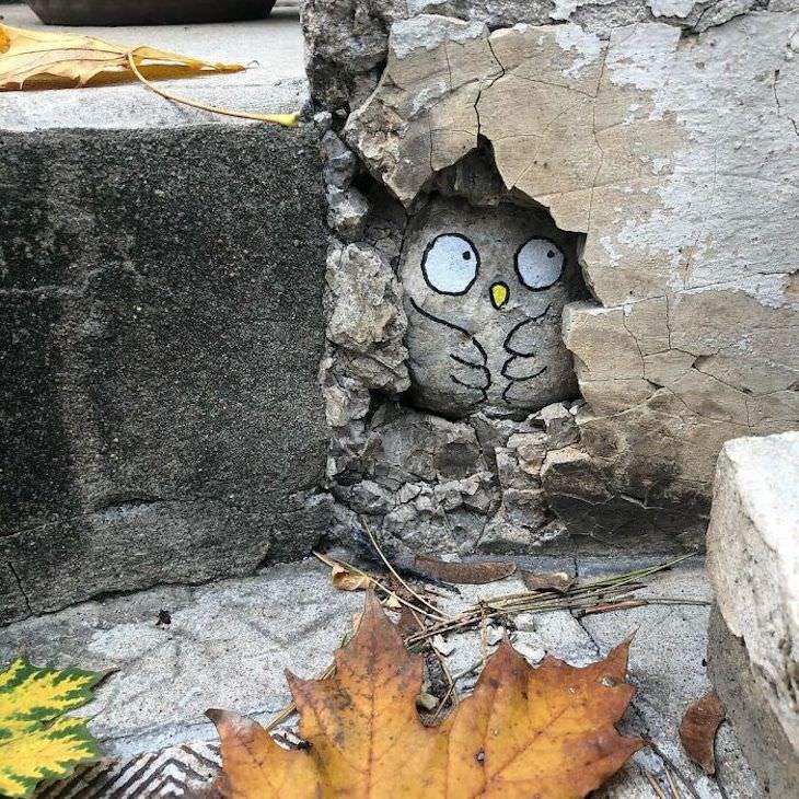 Arte Callejero De Cal búho