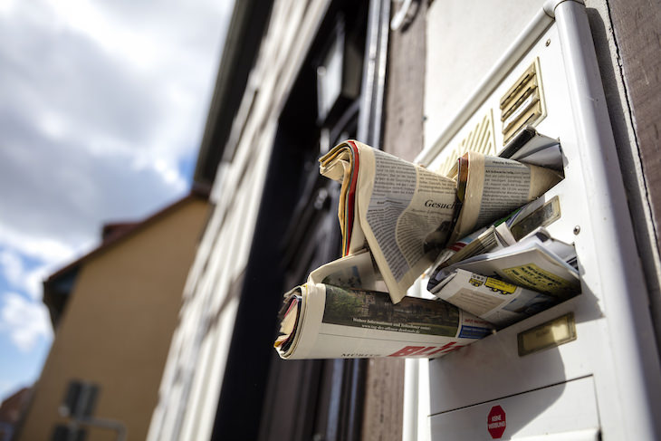 How to Stop or Reduce Junk Mail, full mailbox