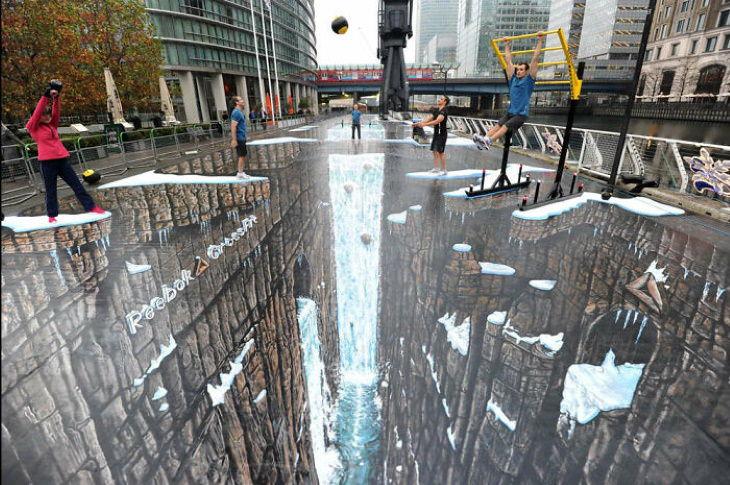 ilusiones opticas en la calle