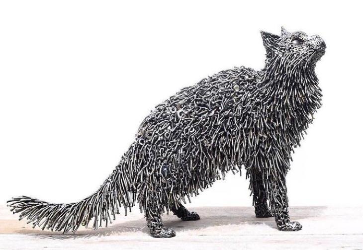 Magníficas Esculturas de Brian Mock gato