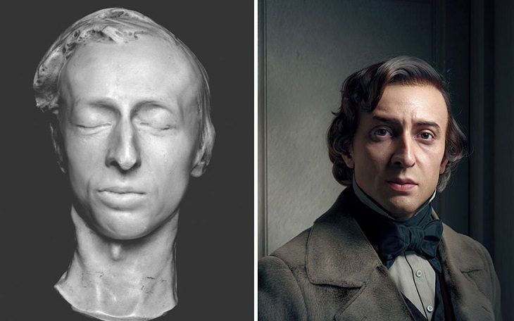 Retratos 3D De Personajes Famosos Frédéric Chopin