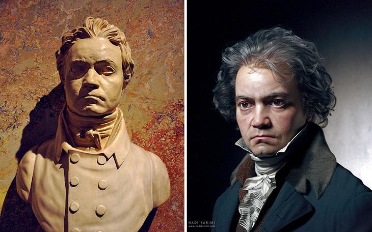 Retratos 3D De Personajes Famosos Ludwig Van Beethoven