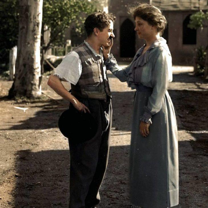 Fotos Antiguas a Color Helen Keller Charlie Chaplin