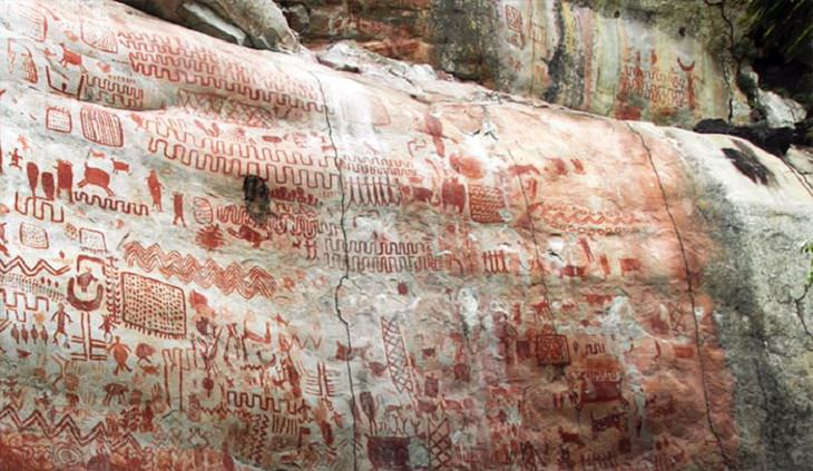 Pinturas Rupestres Encontradas En El Amazonas Imágenes rupestres
