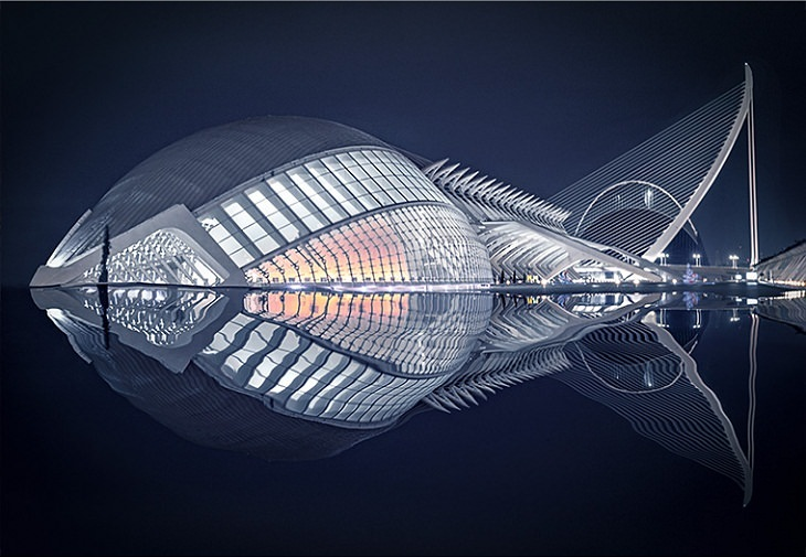 Belleza de los edificios pez