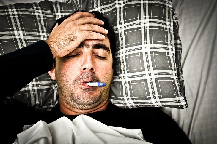 Cómo un resfriado afecta a los hombres