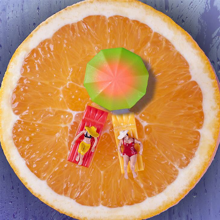 El Mundo De Los Alimentos Visto Por William Kass naranja