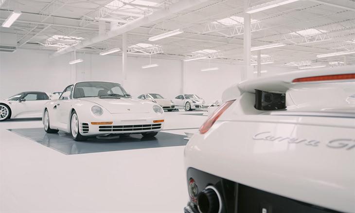 Colección De Automóviles Blancos De Porsche Superautomóviles