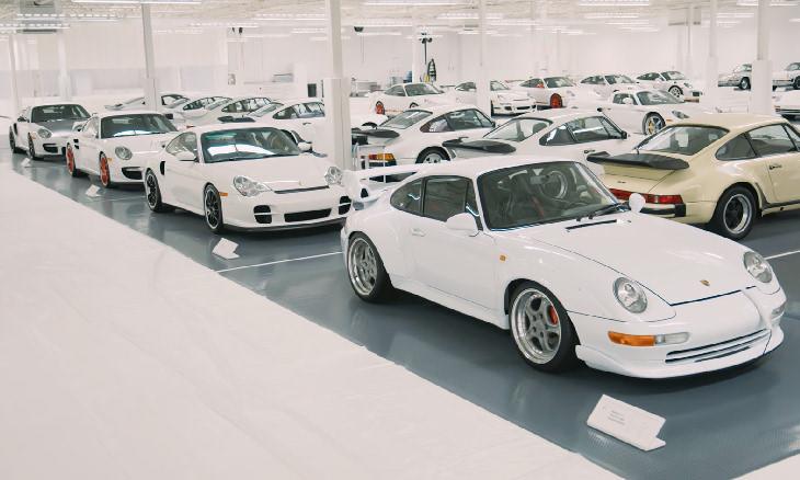 Colección De Automóviles Blancos De Porsche 911 GT2s