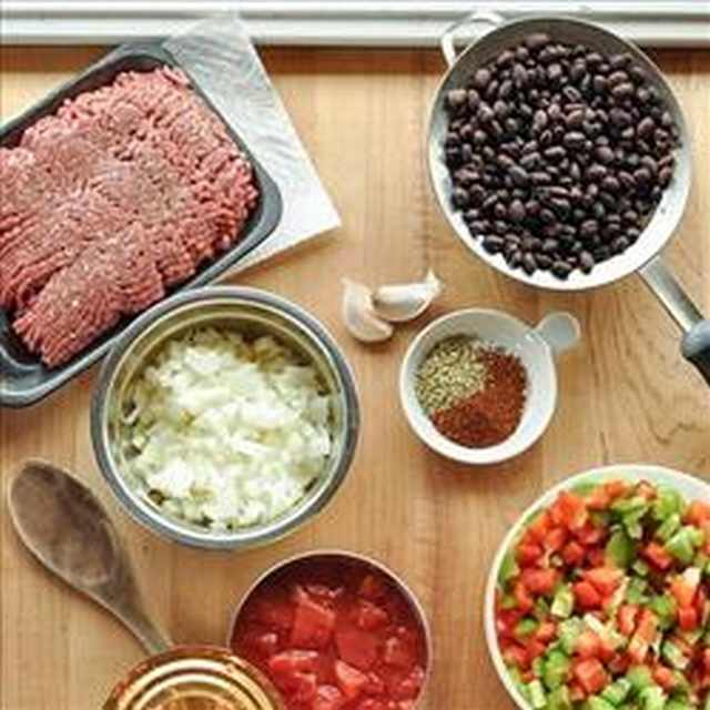 Chile Con Carne ingredientes