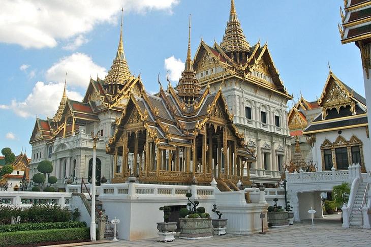 Magníficas Residencias Reales Gran Palacio en Bangkok, Tailandia