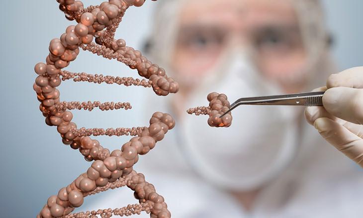 un código de ADN que fue editado con tecnología CRISPR