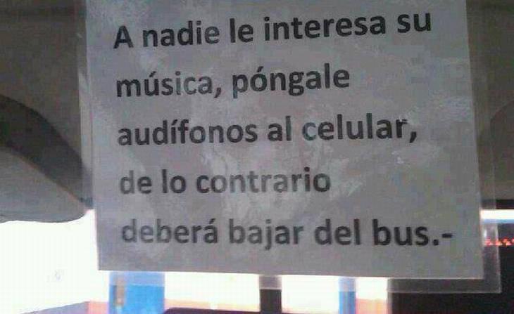 Letreros Divertidos A nadie le interesa tu música usa audífonos