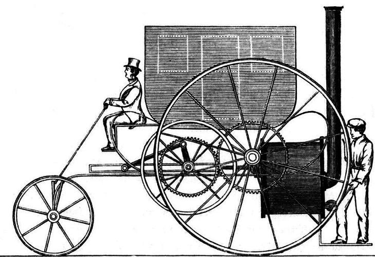Los automóviles más antiguos Carro de vapor de Londres