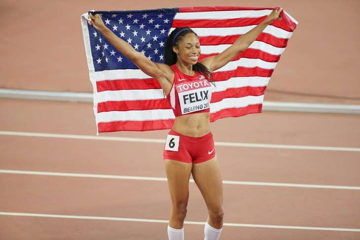 Allyson Felix rompió el récord de  Usain Bolt