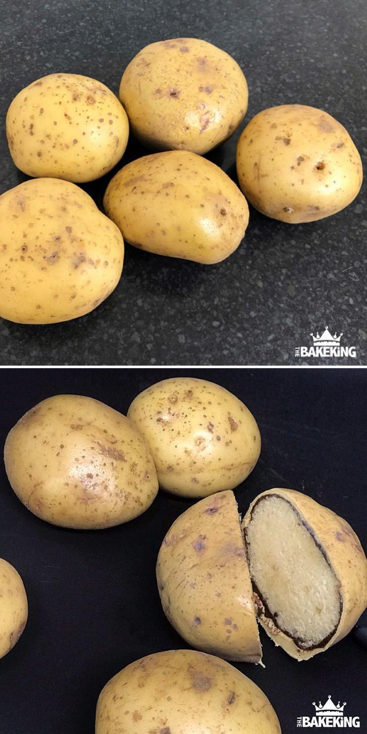 Pastel en forma de papas