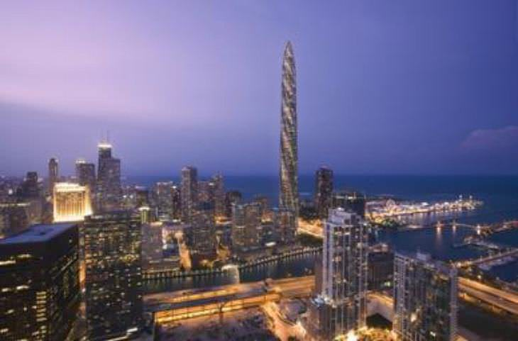 propuestas de edificios extravagantes El Chicago Spire en Chicago, Illinois