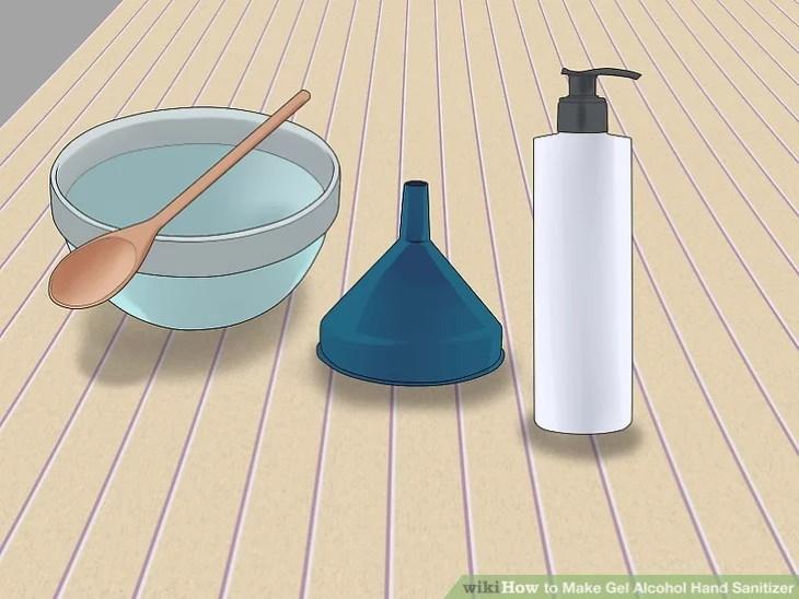 Utensilios necesarios para hacer un desinfectante para manos casero