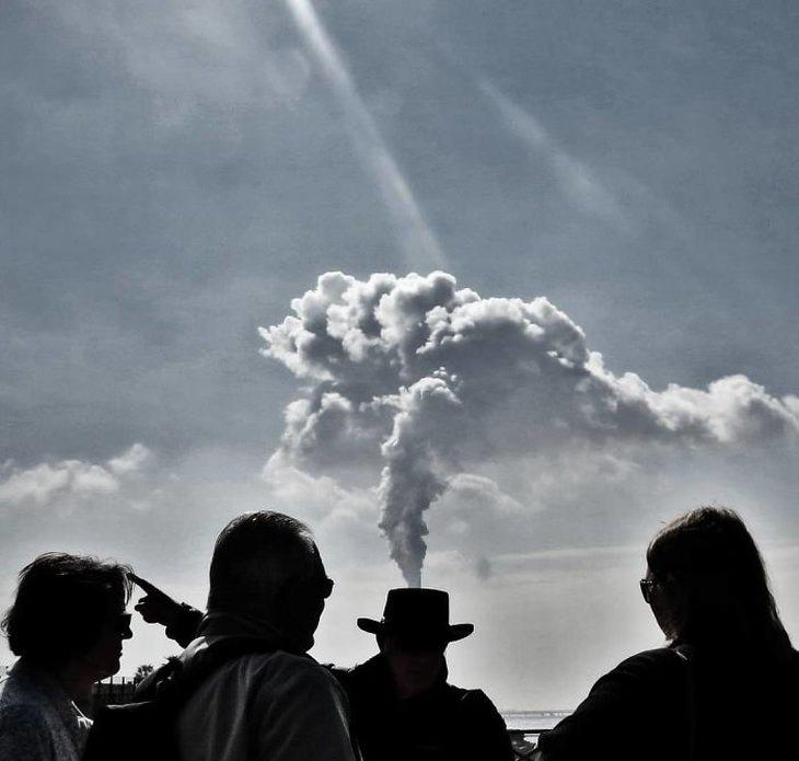 Fotógrafo Callejero sombrero de humo