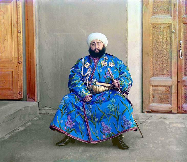 Russia El emir de Bukhara, Alim Khan