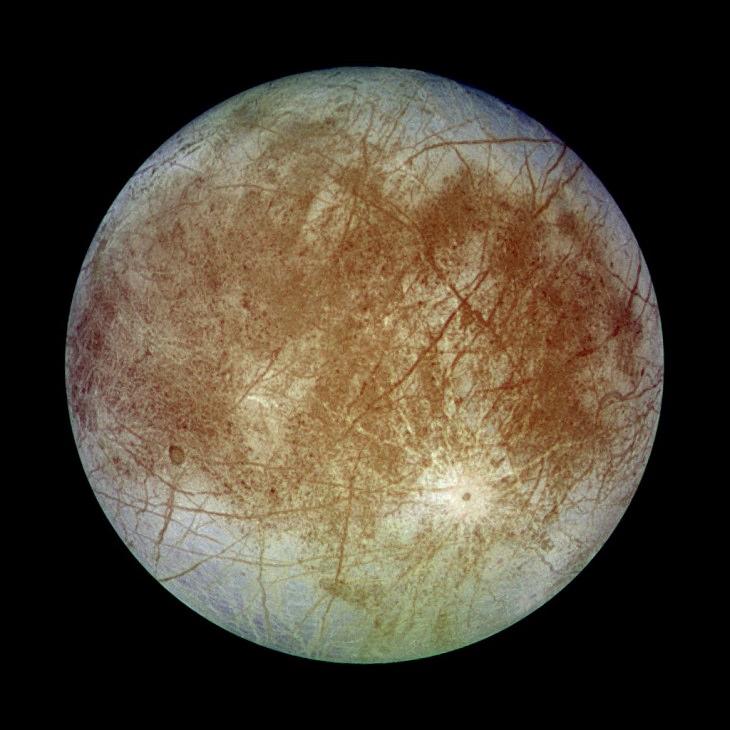 Las 4 lunas Galileanas de Júpiter Europa