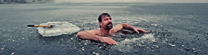 Wim Hof en agua con hielo