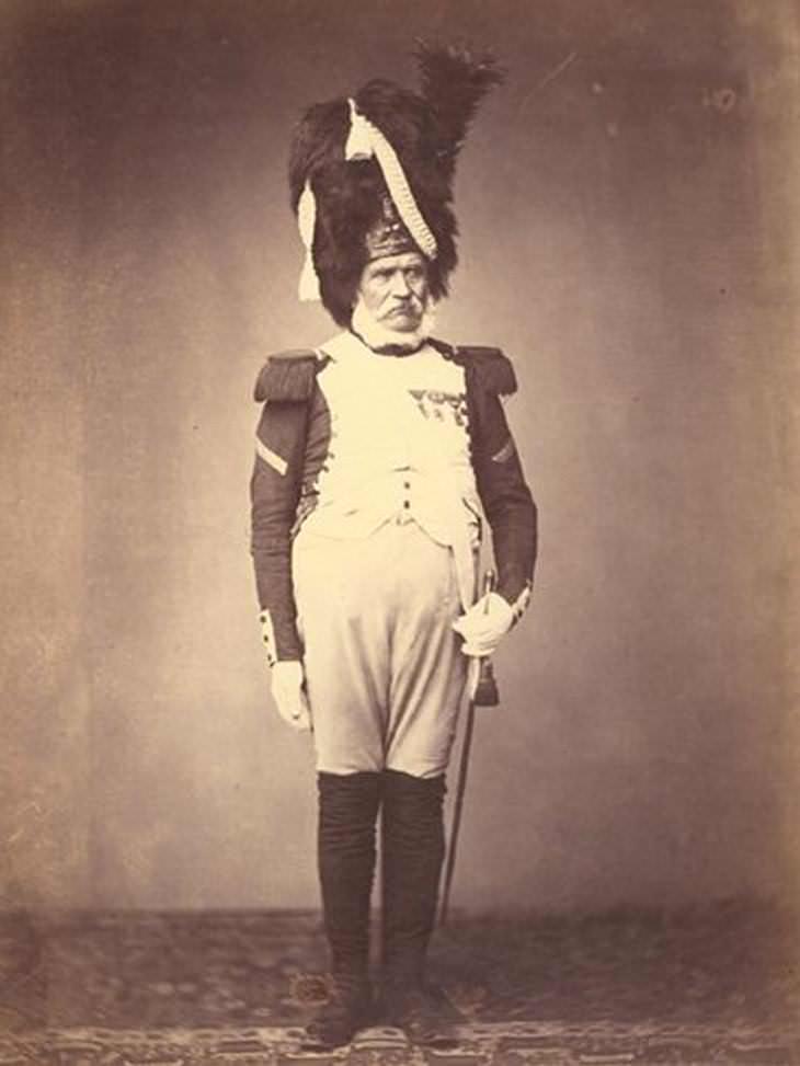 Veteranos de guerras napoléonicas Granadero Burg 1815
