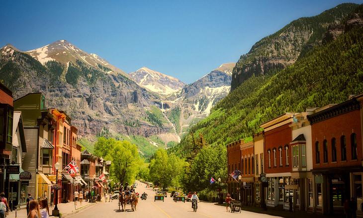 2. En lugar de Vail, visita Telluride, Colorado.