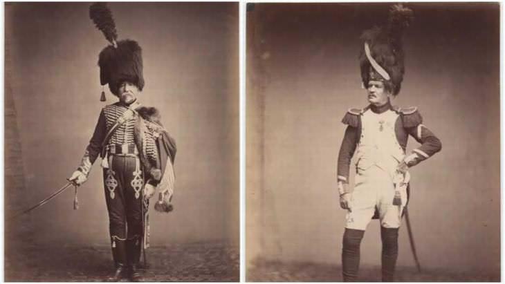 Veteranos de guerras napoléonicas dos veteranos