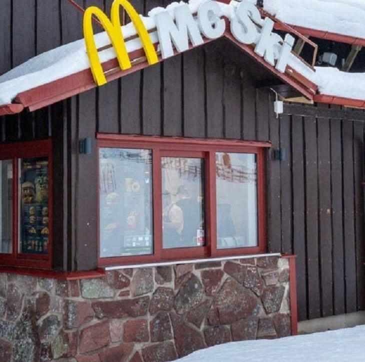 Restaurantes De McDonald's Novedosos McSki en Suecia