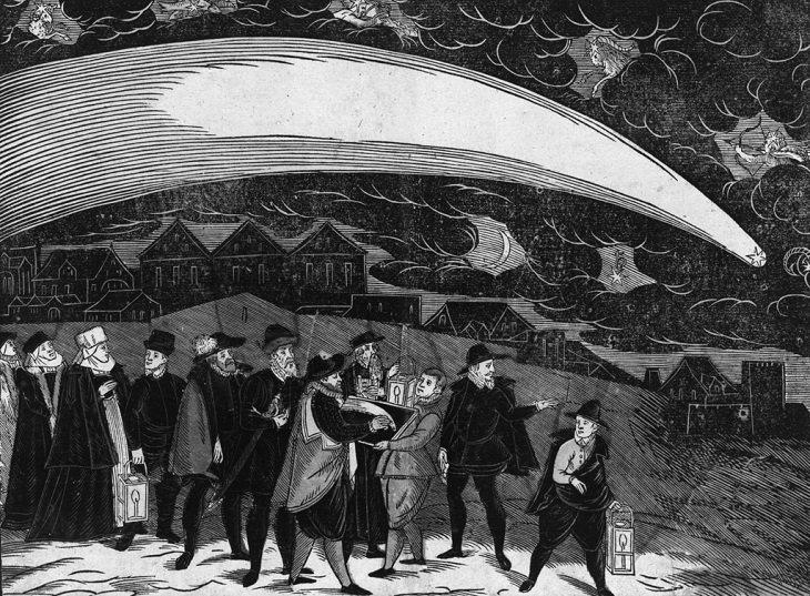 El Gran Cometa de 1577, visto en Praga el 12 de noviembre