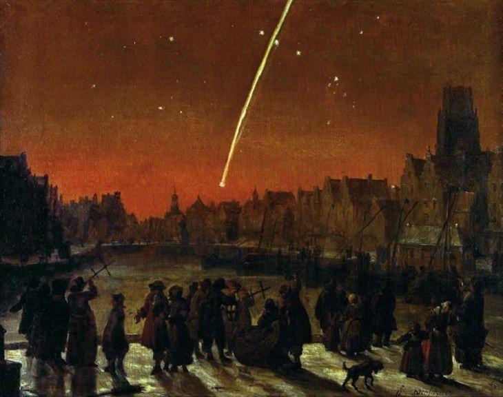 2. El Gran Cometa de 1680, el primer cometa descubierto por telescopio, designado oficialmente C / 1680 V1, también conocido como el Cometa de Kirch y el Cometa de Newton