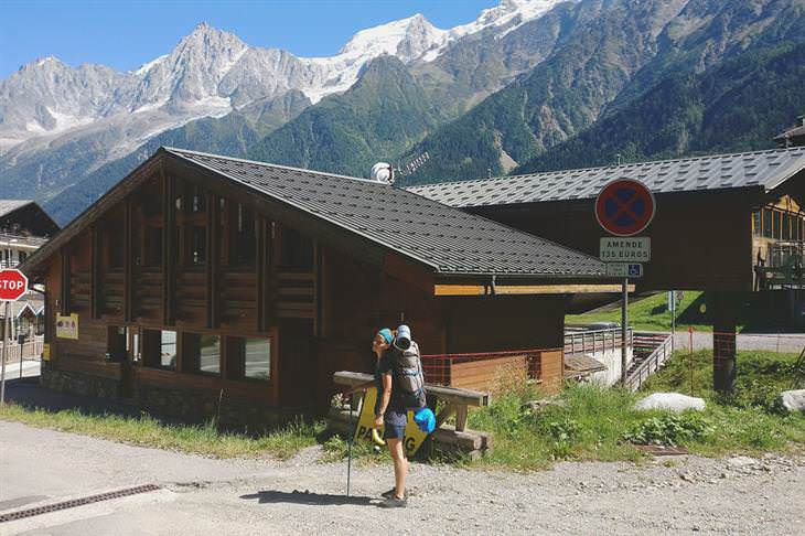 Mont Blanc El punto de partida en el pueblo de Les Houches, a 1.008 metros sobre el nivel del mar
