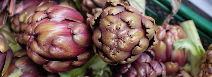 Alimentos bajos en calorías Corazones de alcachofa