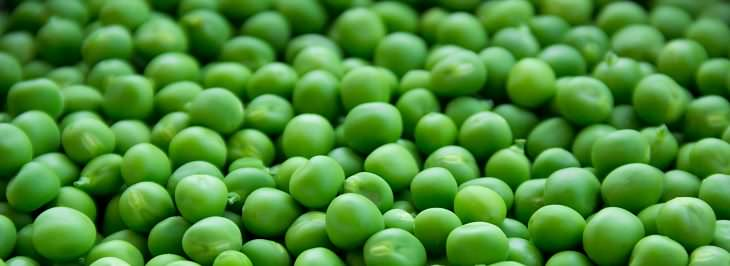 Alimentos bajos en calorías Guisantes o chícharos