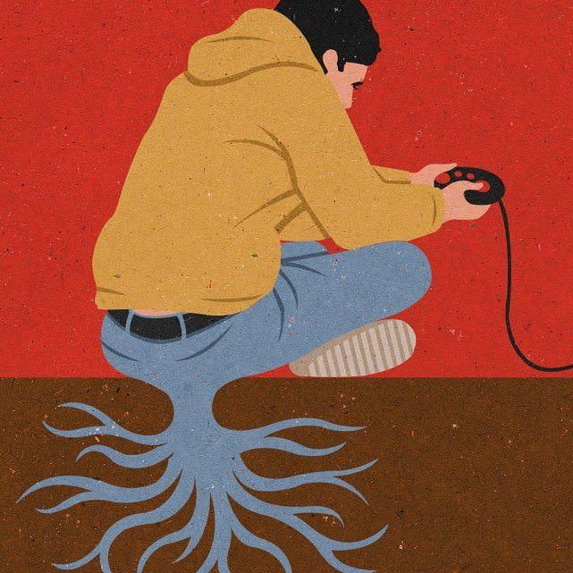Ilustraciones Satíricas De La Vida Moderna Videojuegos