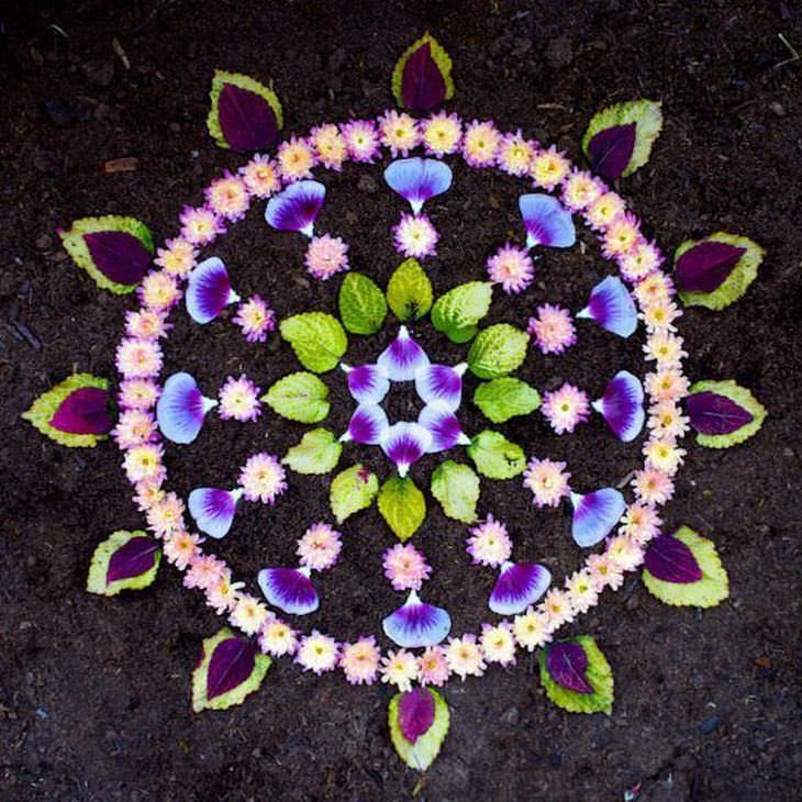 Hermosas Mándalas Con Flores de colores